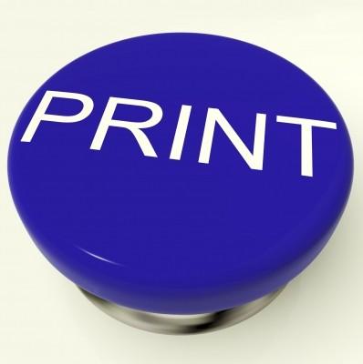 кнопка печать