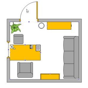 как быстро нарисовать комнату в визио